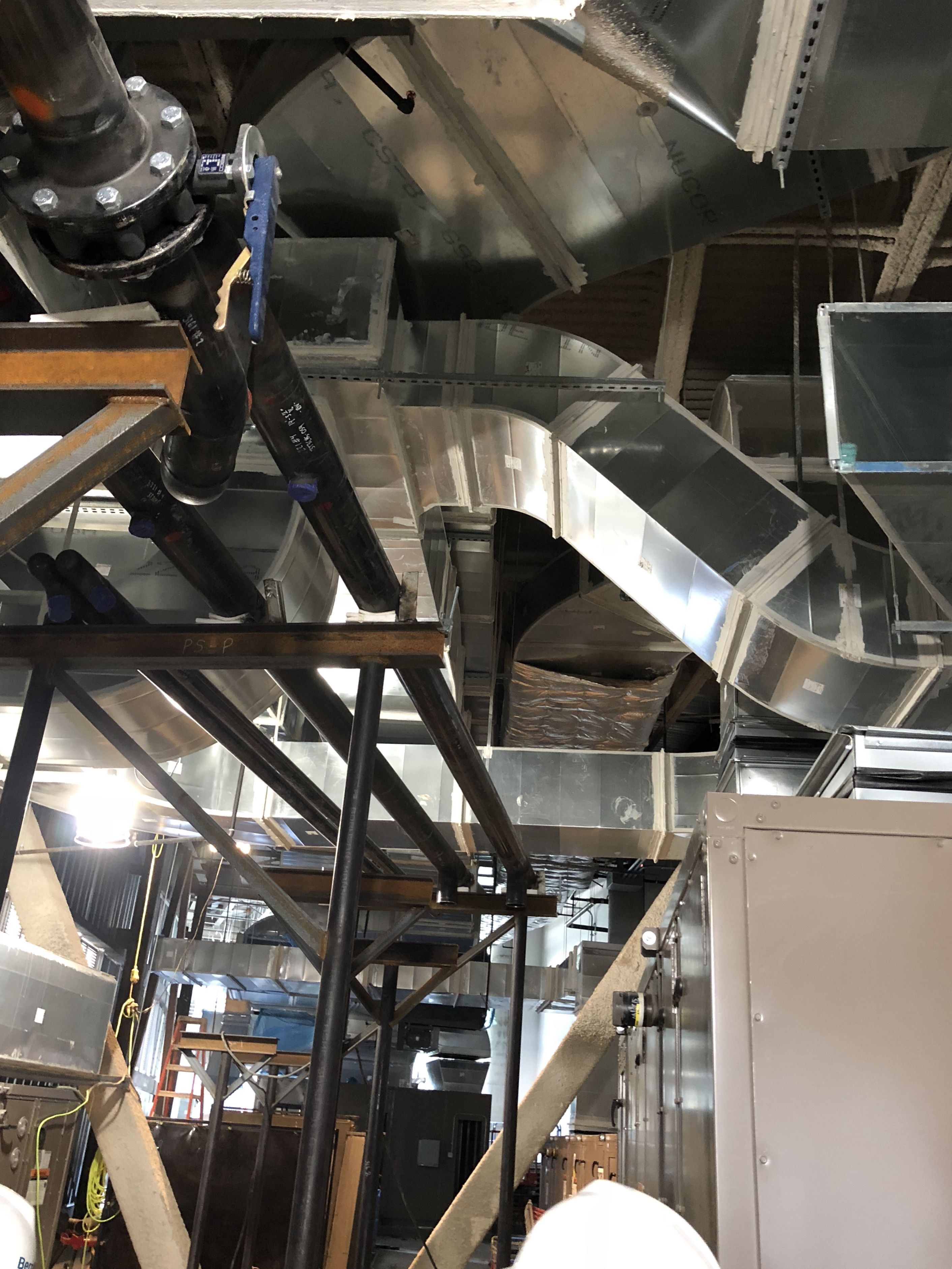 Pin By Conklin Metal Industries On Hvac Ductwork Large Commercial Project Hvac Ductwork Duct Work Hvac