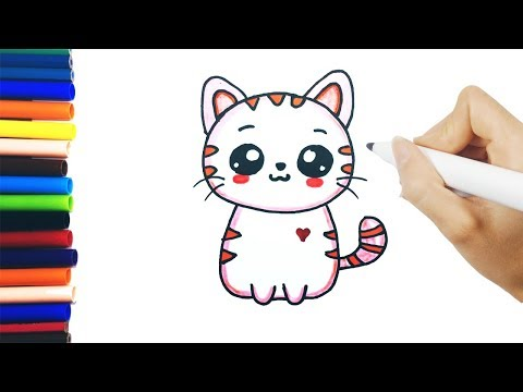 Gato Cat Kawaii Cute Tierno Lindo Como Dibujar Un Gato Dibujo Gato Facil Dibujos De Gatos