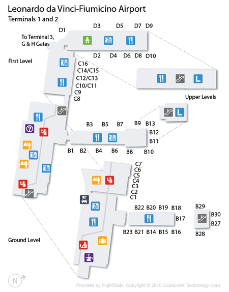 Rome Fiumicino Airport Terminal Map Google Search Rome - Rome map with airports