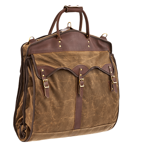 Overland Garment Bag A Premium With Leather From Red Wing Mn Canvas New Jersey Solid Brass Hardware And Made In Duluth Usa