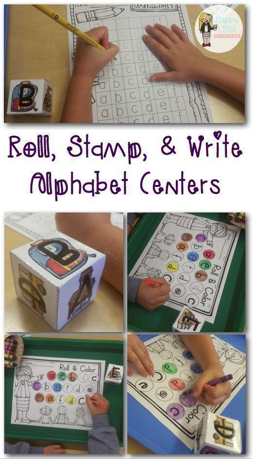 Hands-on Alphabet & Math Centers for Kindergarten!