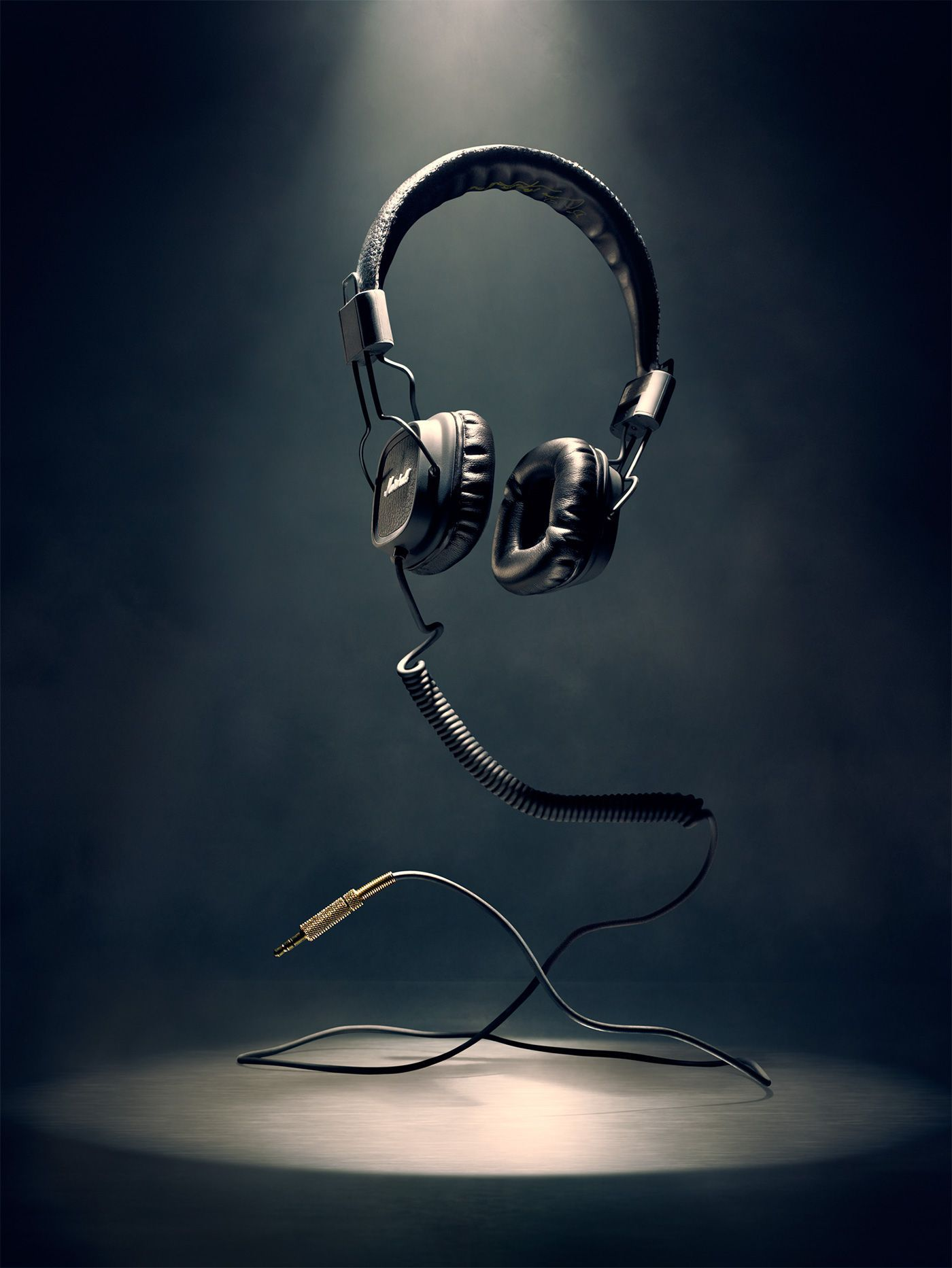 Marshall Headphones On Behance Headphones Art Marshall Headphones Iphone Wallpaper Music