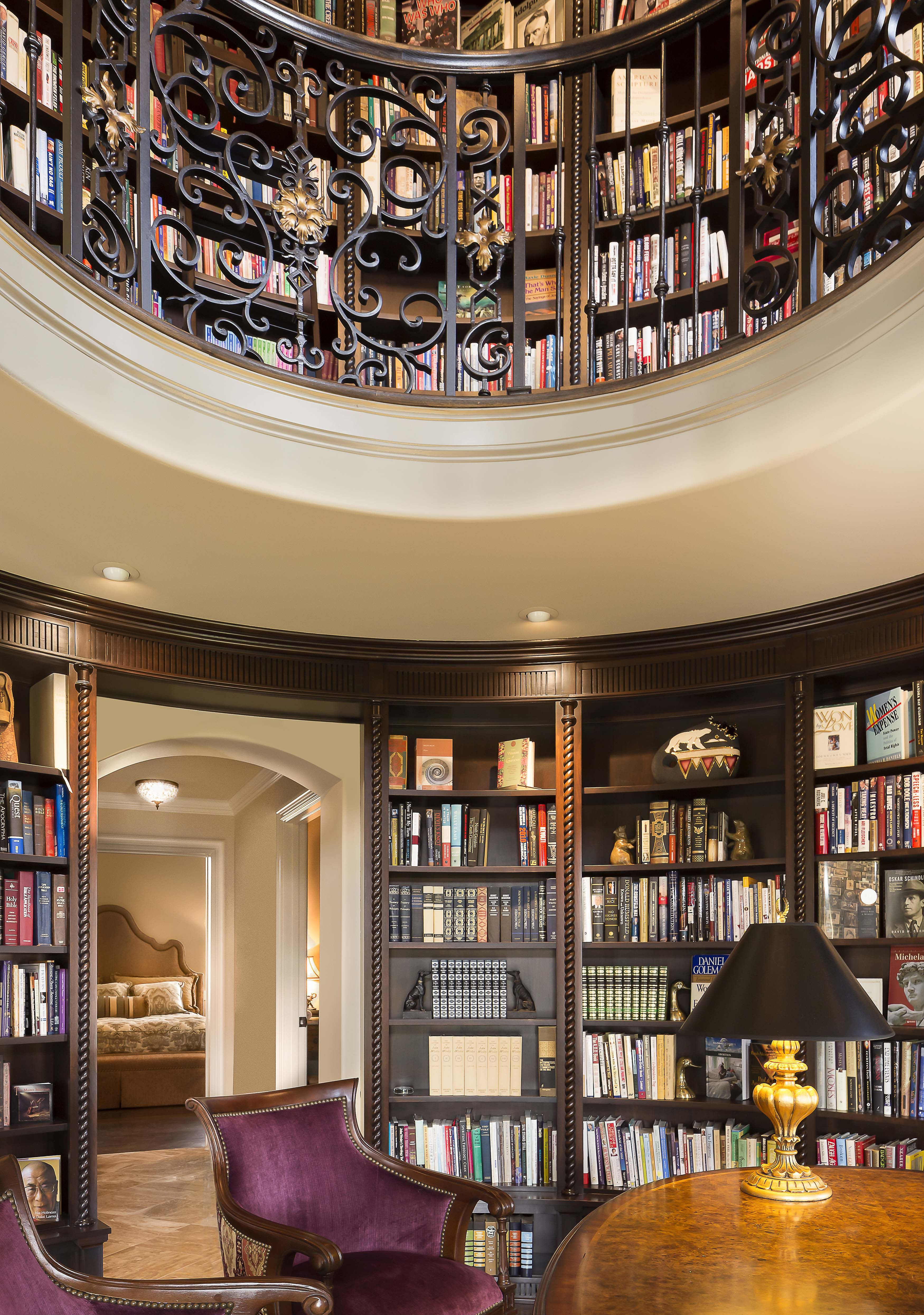 Tuscan-inspired Home Library Full Circle Design