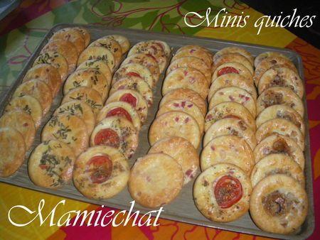 MINIS QUICHES (sans pâte)