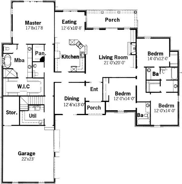 Almost The Perfect House Plan House Plans Best House Plans European House Plans
