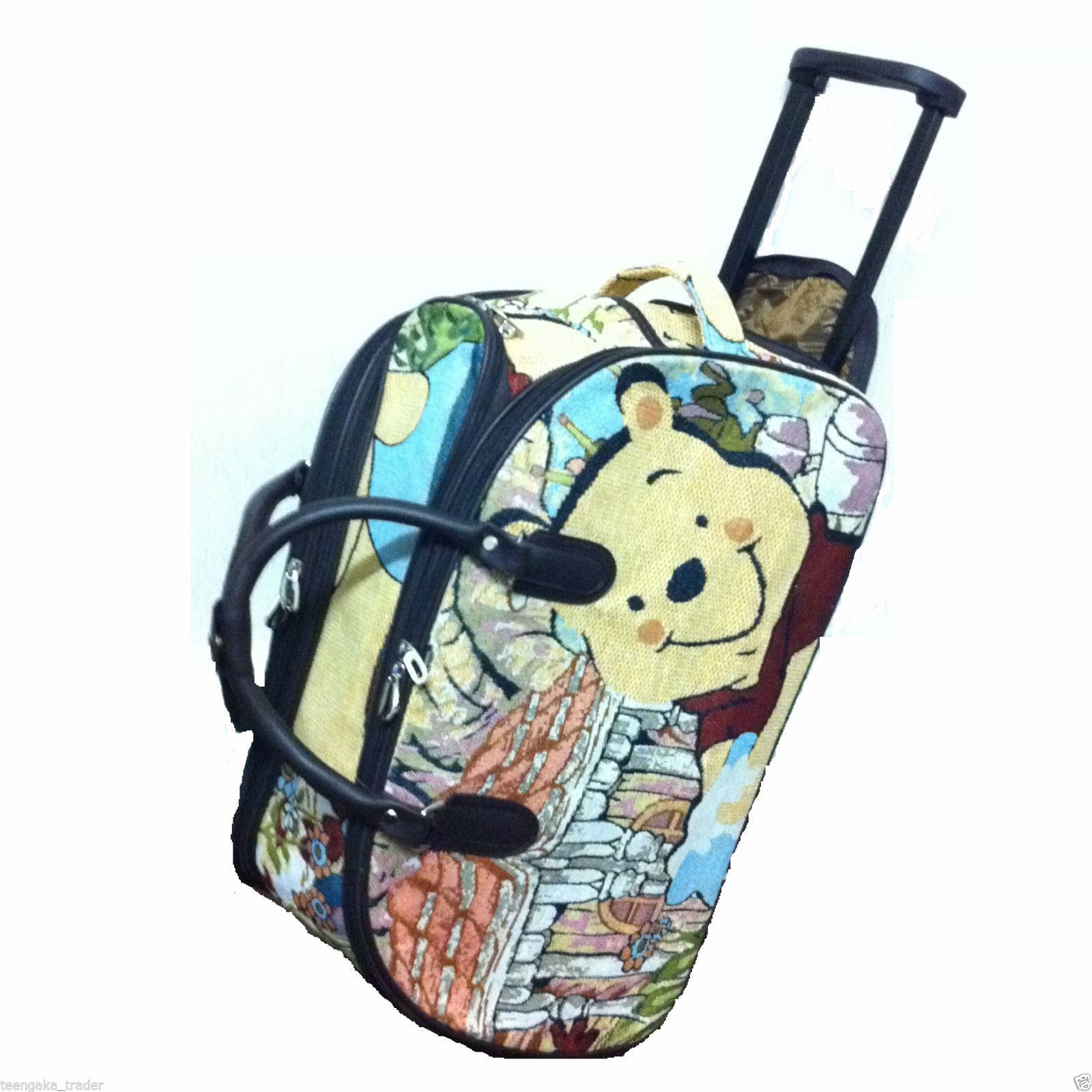Winnie The Pooh Luggage Holdall Carpet Material weekend travel