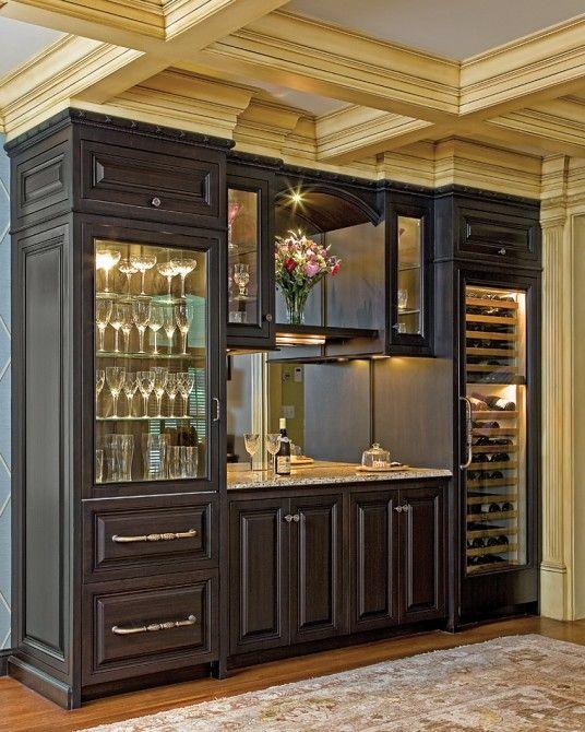 E w tarca construction custom builders hopkinton ma - Built in bar cabinets ...
