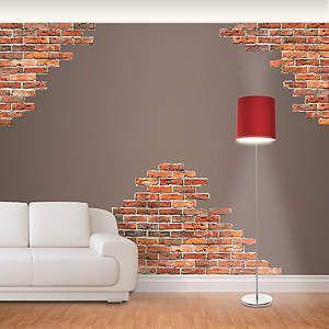 Fathead Wall Art horizontal brick wall accents fathead wall decal | decorating