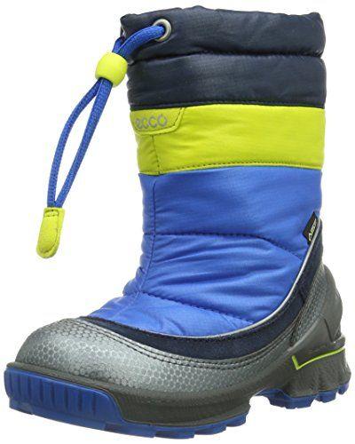 Ecco ECCO BIOM HIKE INFAN – Zapatos primeros pasos de cuero para niño, color azul, talla 22 EU (5.5 Baby UK)