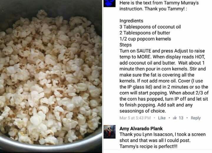 Pressuring popcorn