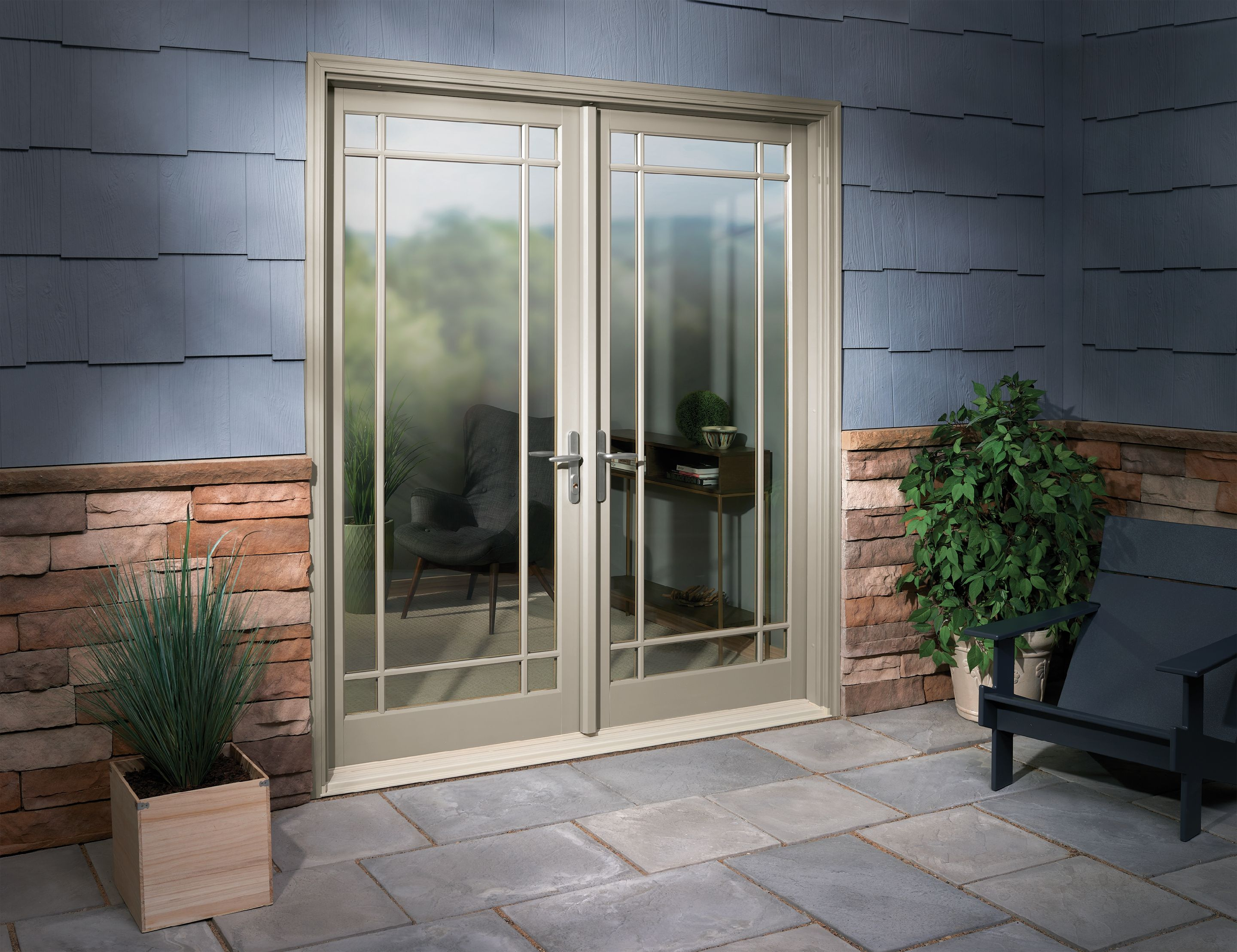 Infinity Inswing French French Doors Exterior French Doors Outdoor Living Space Patio