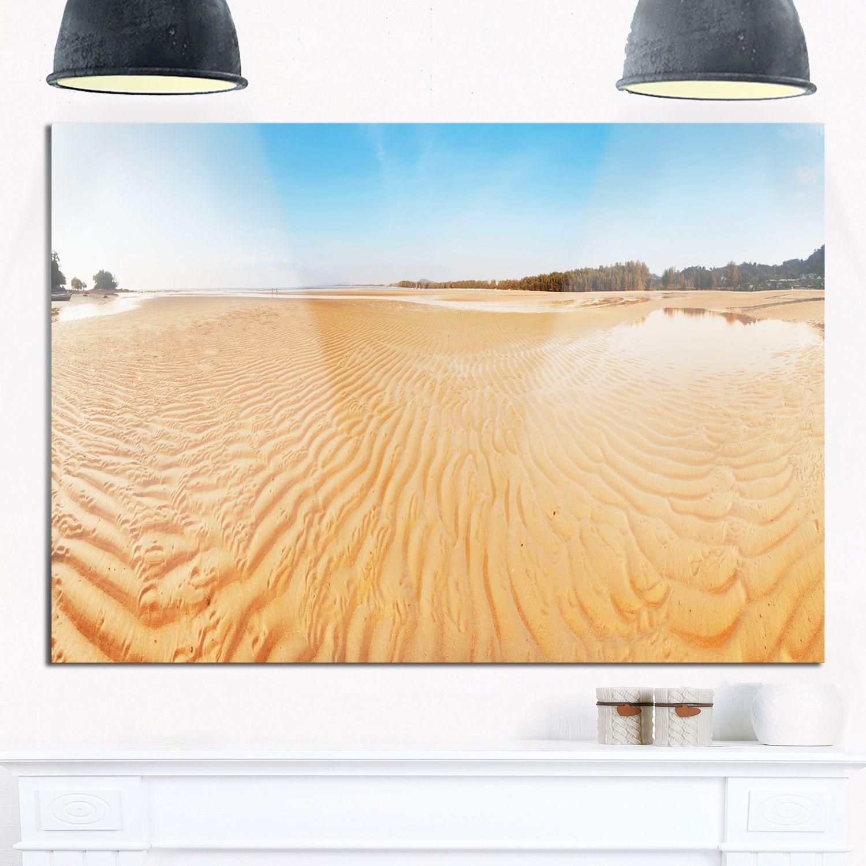 Exotic Tropical Beach Panorama - Modern Seascape Glossy Metal Wall ...