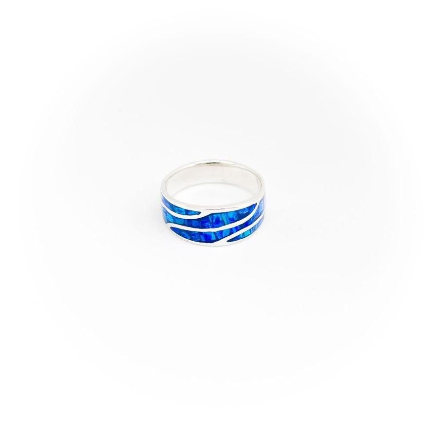 Ocean Deep Blue Opal Ring