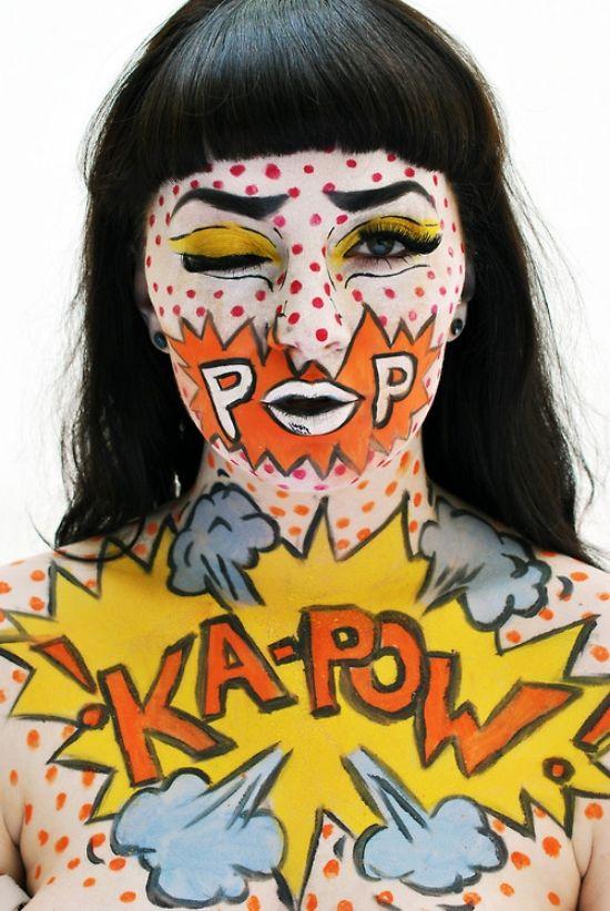 comic makeup ideas halloween make up women halloween. Black Bedroom Furniture Sets. Home Design Ideas