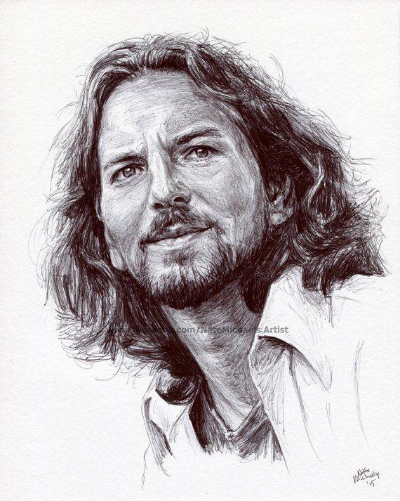 Afbeeldingsresultaat Voor Portrettekening Ed Vedder Lisa