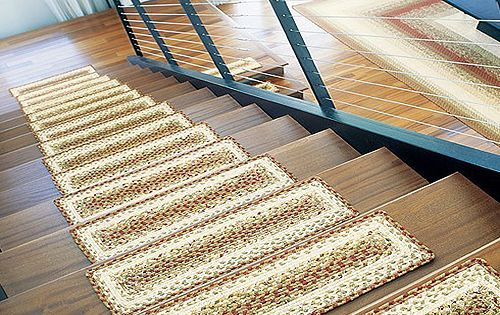 Wood Stairs Carpet Treads Google Search