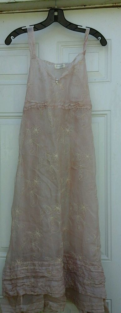 Krista Larson Nantucket Slip in 100% Soutache Silk in Pale Pink one size #KristaLarson #NantucketSlip #Dressyorcasual