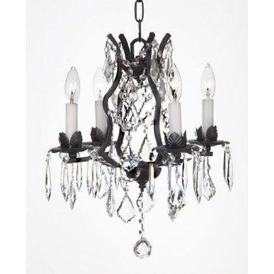 Astoria Grand Alvan 4 Light Candle Style Empire Chandelier With