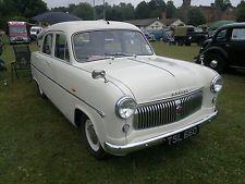 Ford Consul Mk 1 1955 Classic Car White Cream Fully Restored