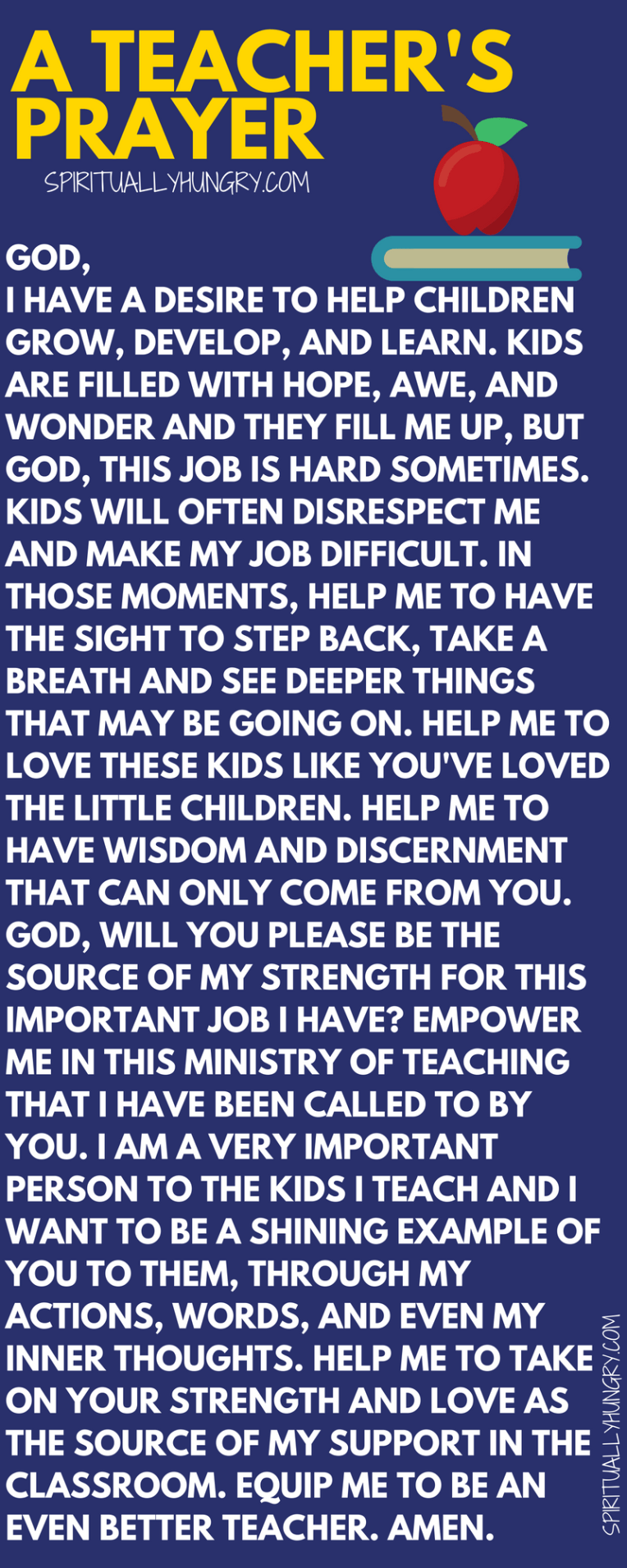 A Teacher's Prayer is part of Teacher encouragement, Teacher prayer, Teacher devotions, School prayer, Teacher motivation, Teacher quotes - You have a lot of responsibility and that's why we created this teacher's prayer for you  Prayer for a teacher is essential as it helps equip you to stand strong in the Lord