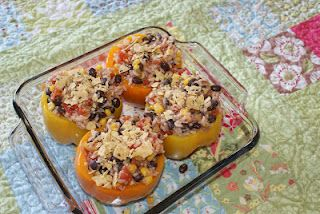 A Spoonful of Sisters: Southwest Stuffed Bell Peppers