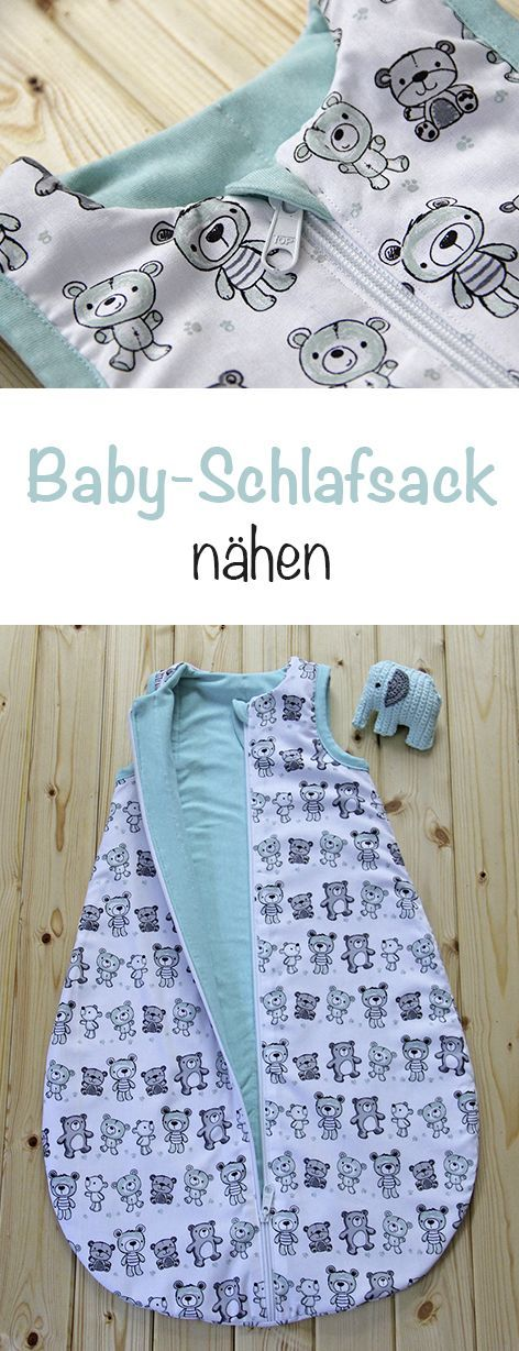 """Photo of Baby-Schlafsack """"Teddy Mints"""""""