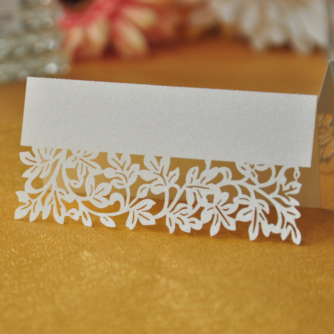 Amazon hd flower laser cut wedding party name setting place amazon hd flower laser cut wedding party name setting place cards table decoration junglespirit Images