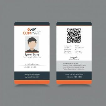 Descarga Vectores Y Fotos Gratis De En Freepik Es Id Card Template Employee Id Card Professional Business Card Design