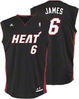LeBron James Youth Jersey  adidas Revolution 30 Black Replica  6 Miami Heat  Jersey 1f04b599e
