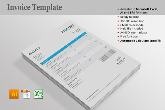 Invoice Template Pinterest Stationery templates and Template