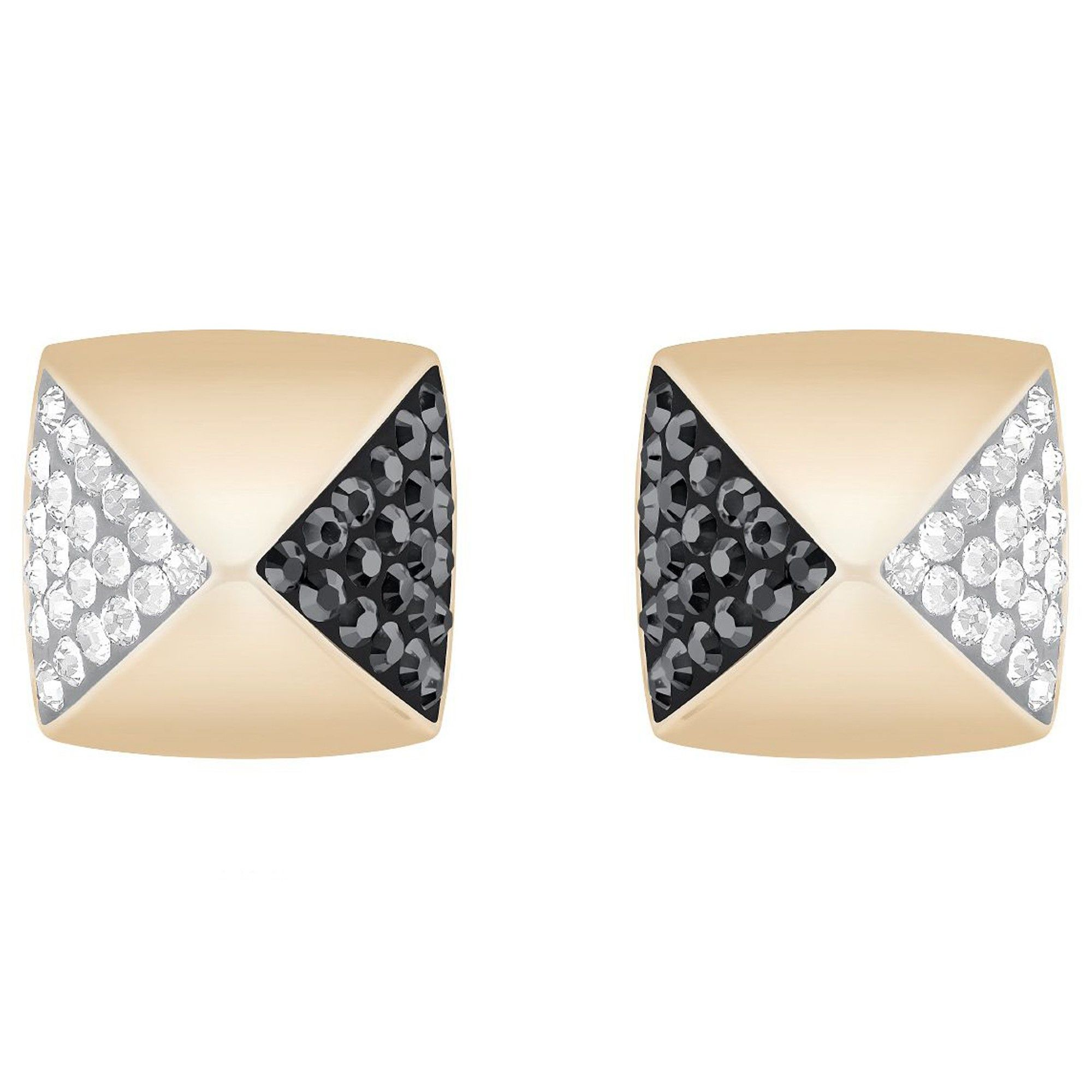 A little edge for Friday night.  Swarovski Crystal Glance Stud Earrings in Rose Metal