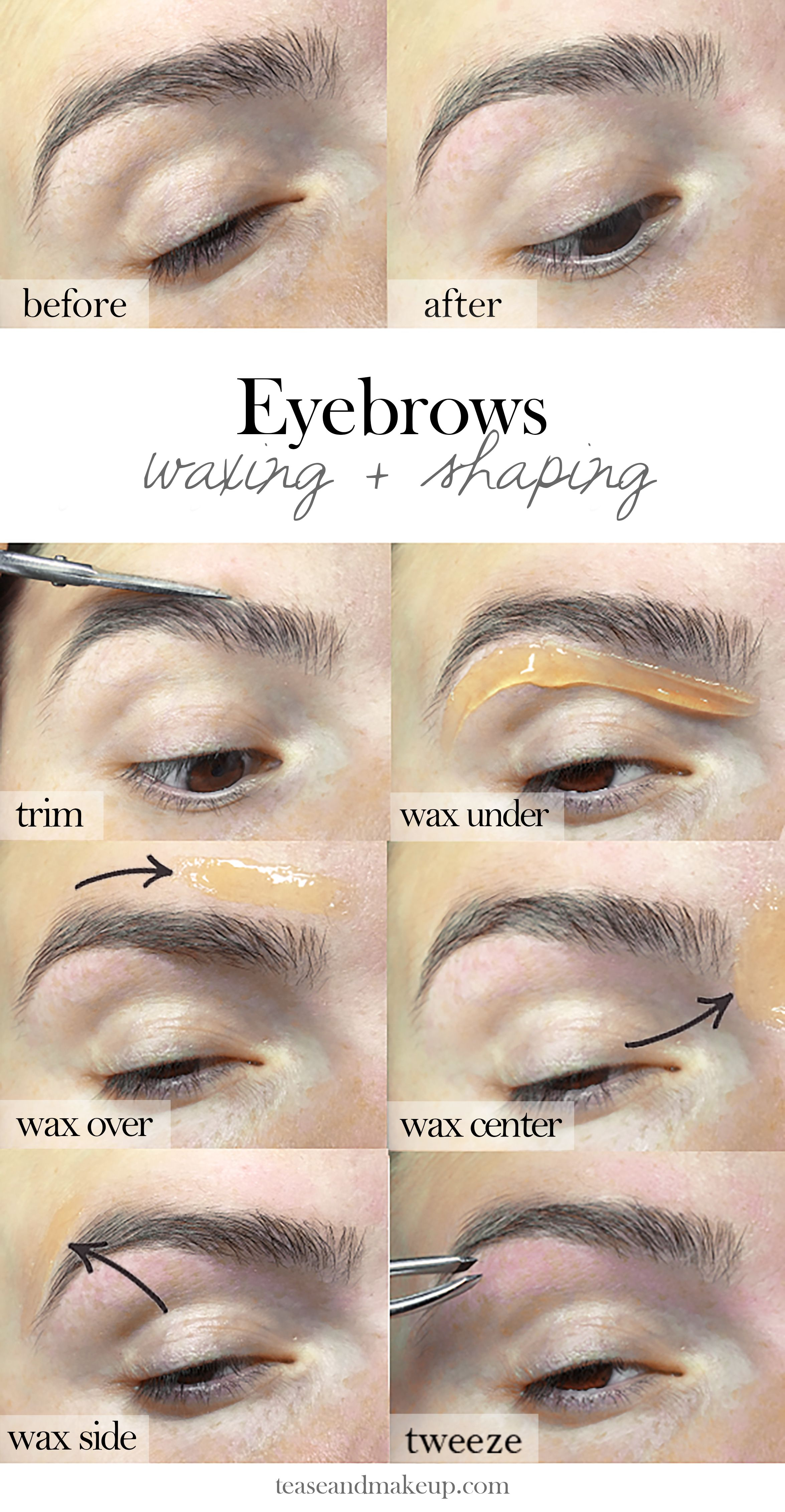 Trim Eyebrow Shaper : eyebrow, shaper, Eyebrow, Waxing, Shaping, Yourself, Tutorial, Brows…, Eyebrows, Home,, Waxed, Eyebrows,, Grooming