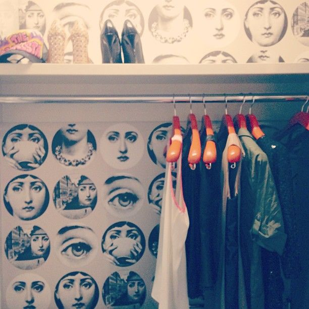 Fornasetti Wallpaper In Chic Little Closet Cosmopolitan Las Vegas
