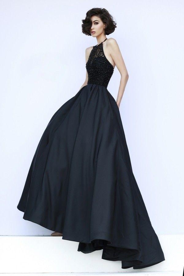 Schwarzes Neckhoulder Träger Abendkleid  Homecoming kleider, Abendkleid und Abschlussball