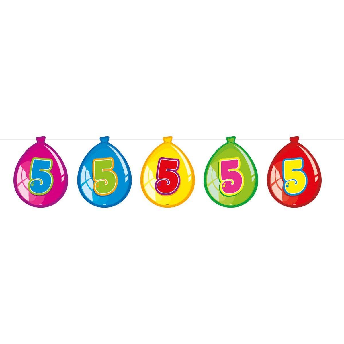 Vlaggenlijn Ballonnen 5 jaar, 10mtr Ballonnen, Ballon en