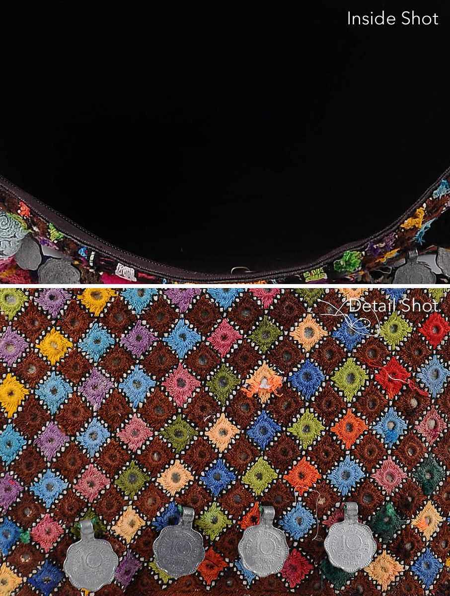 c49875ddcfc Multicolored Thread-Embroidered Tote with Mirrors and Coins | Bag ...