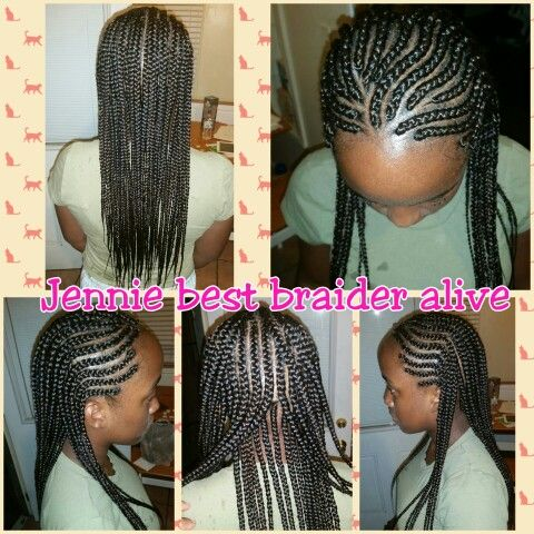 3 Rows Of Cornrows Jenniebestbraideralive Braids Braider Stylist Cornrow Extensions Weave Individuals Hai Cornrows Kids Hairstyles Jumbo Box Braids