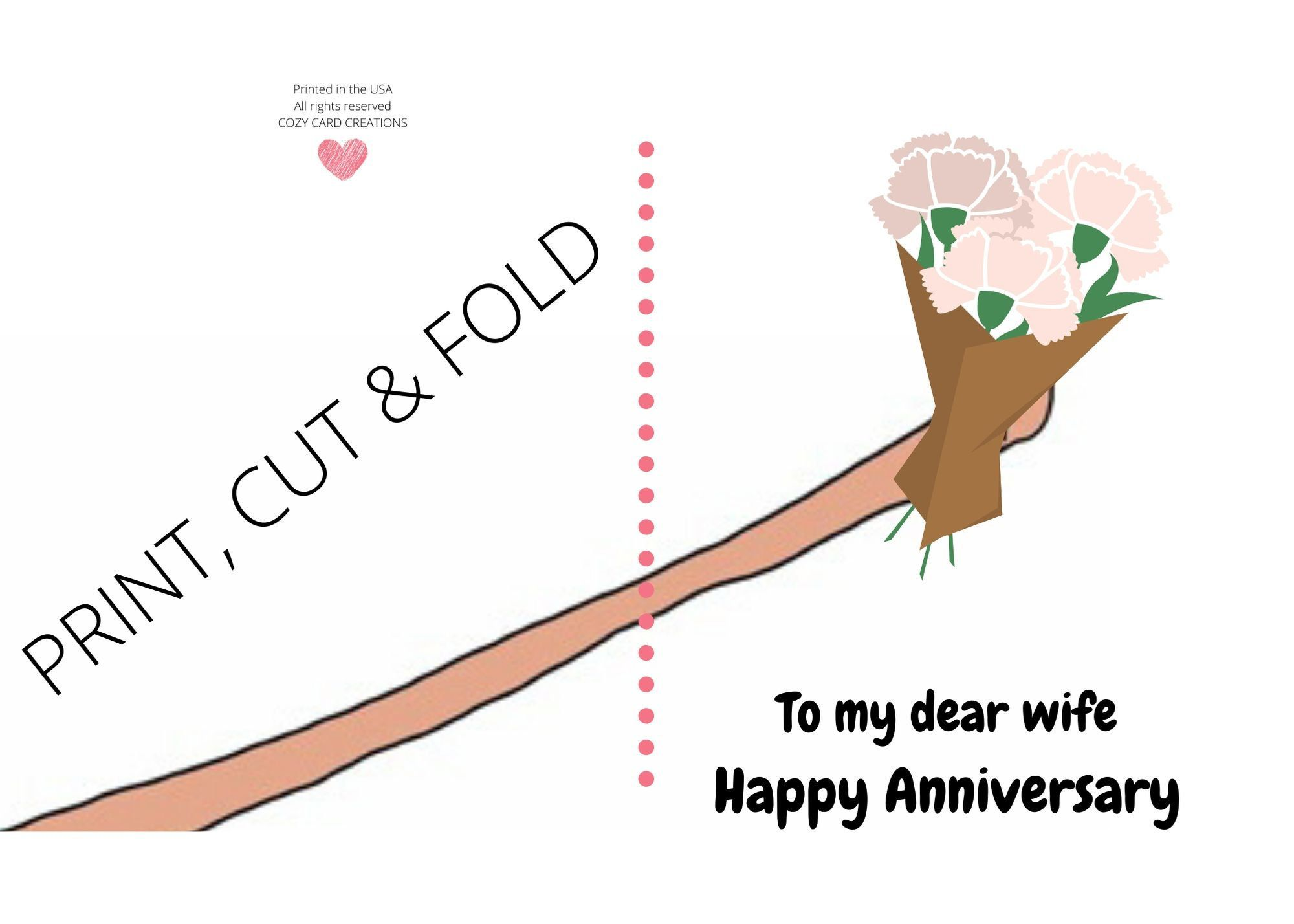 Happy Anniversary Card For Wife Printable Happy Anniversary Card For Her Anniversary Cards For Wife Anniversary Cards For Husband Anniversary Greeting Cards