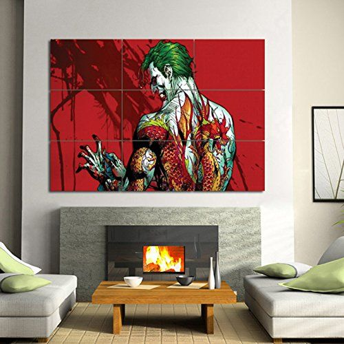 Batman Joker Tattoo Glossy Photographic Paper Giant Wall Art Print Poster Large Wall Decor Posters 36 X49 5 By Zeres P 1141