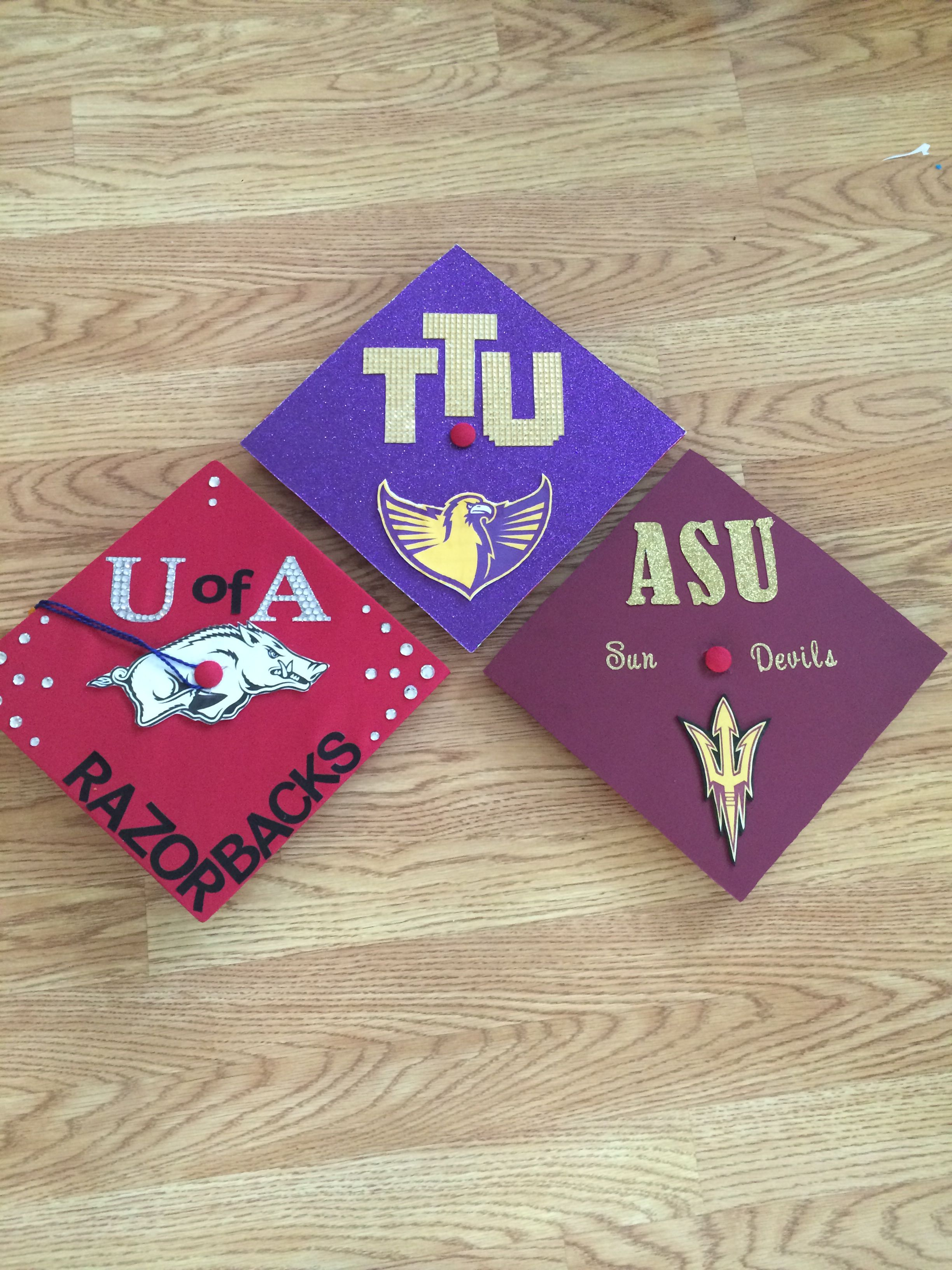 Decorating our graduation caps for Tennessee Tech University ... 1cb7ed5d14d4
