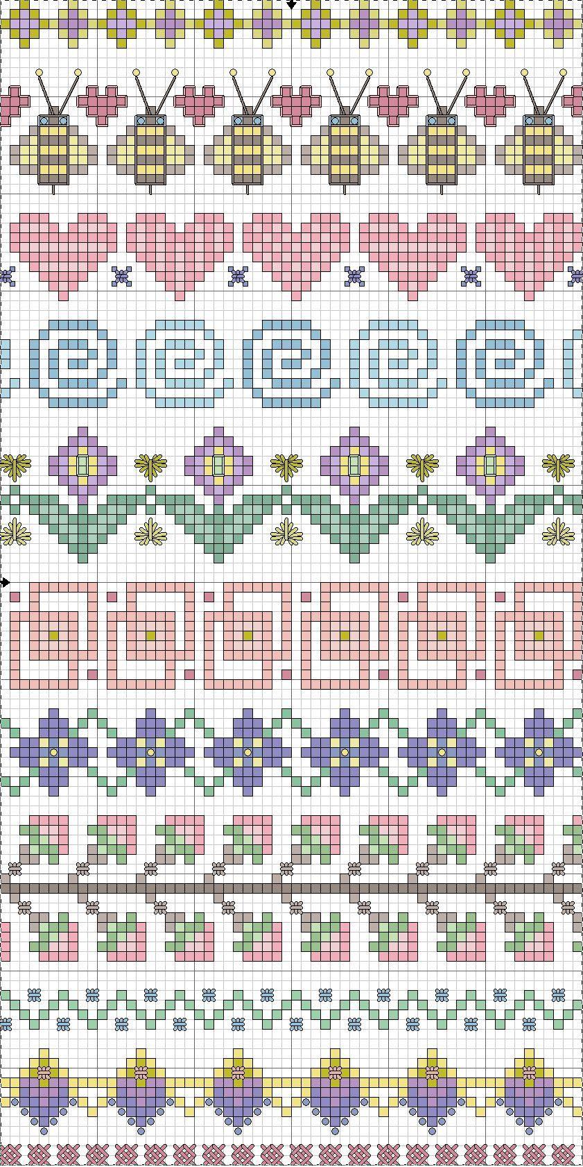 Spring plus some neutral edging motifs | guardas | Pinterest | Punto ...