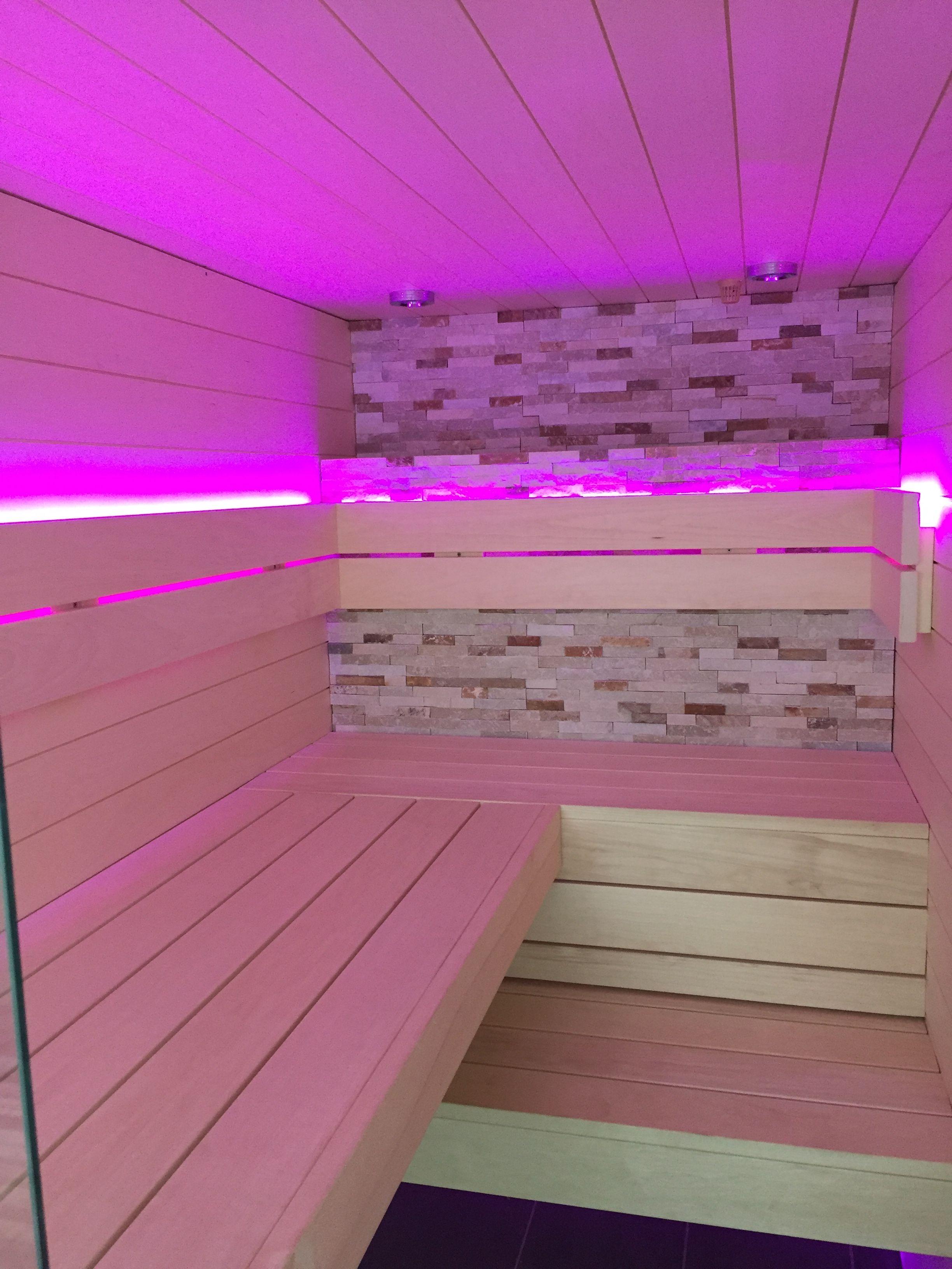 Heimische Sauna Mit Led Beleuchtung Led Beleuchtung Beleuchtung Led