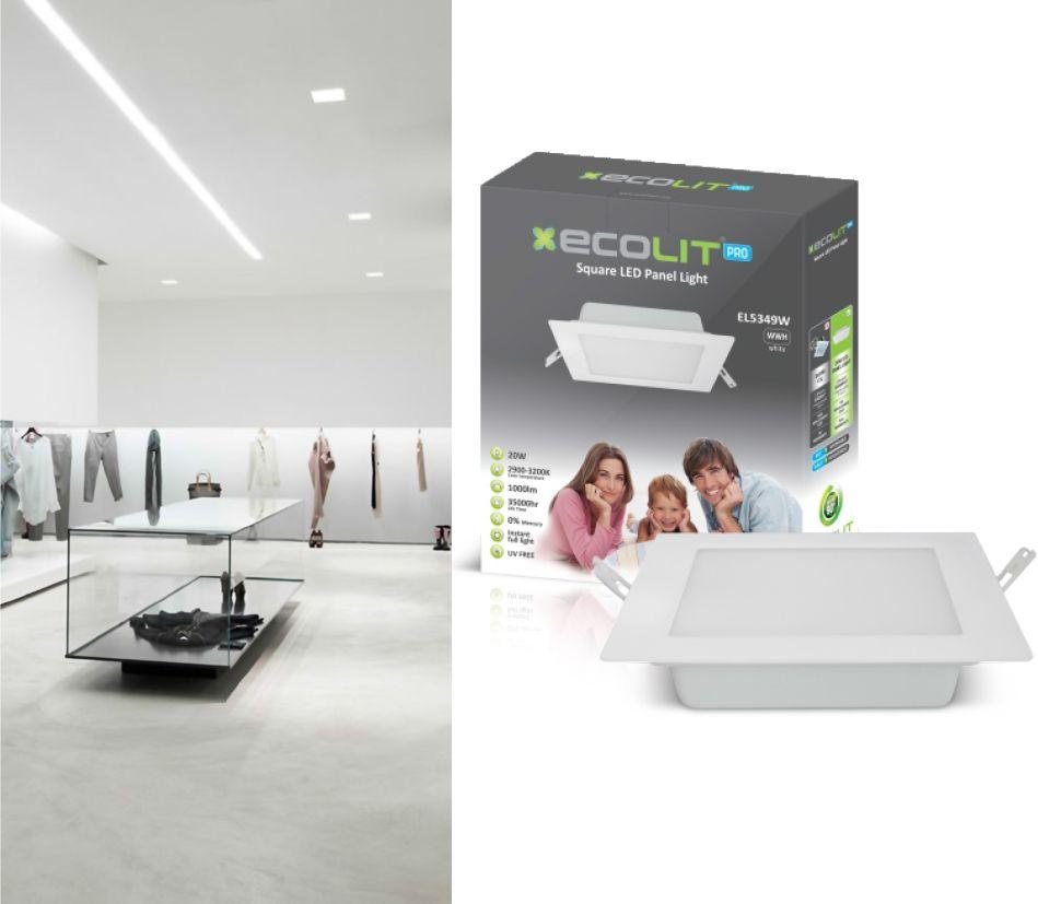Ecolit Range Panel Light Square S Series Modern That Promotes Smart Energy Saving Lighting
