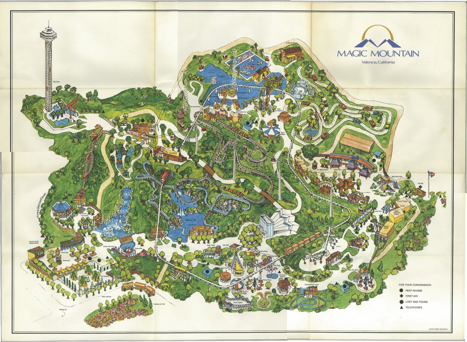 Pin By Jesse Bartyn On Amusement Parks Theme Park Map Amusement Park Santa Clarita Valley