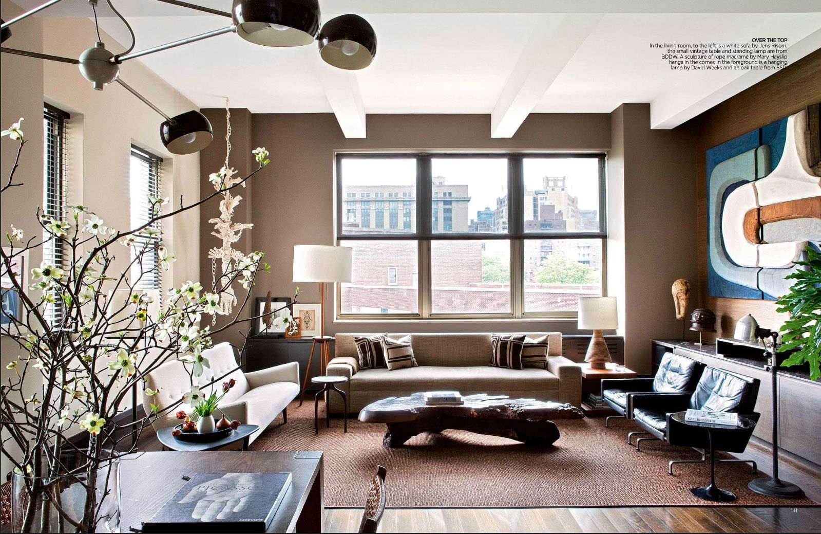 Mid Century Modern Living Room Done In A Warm Neutral Color