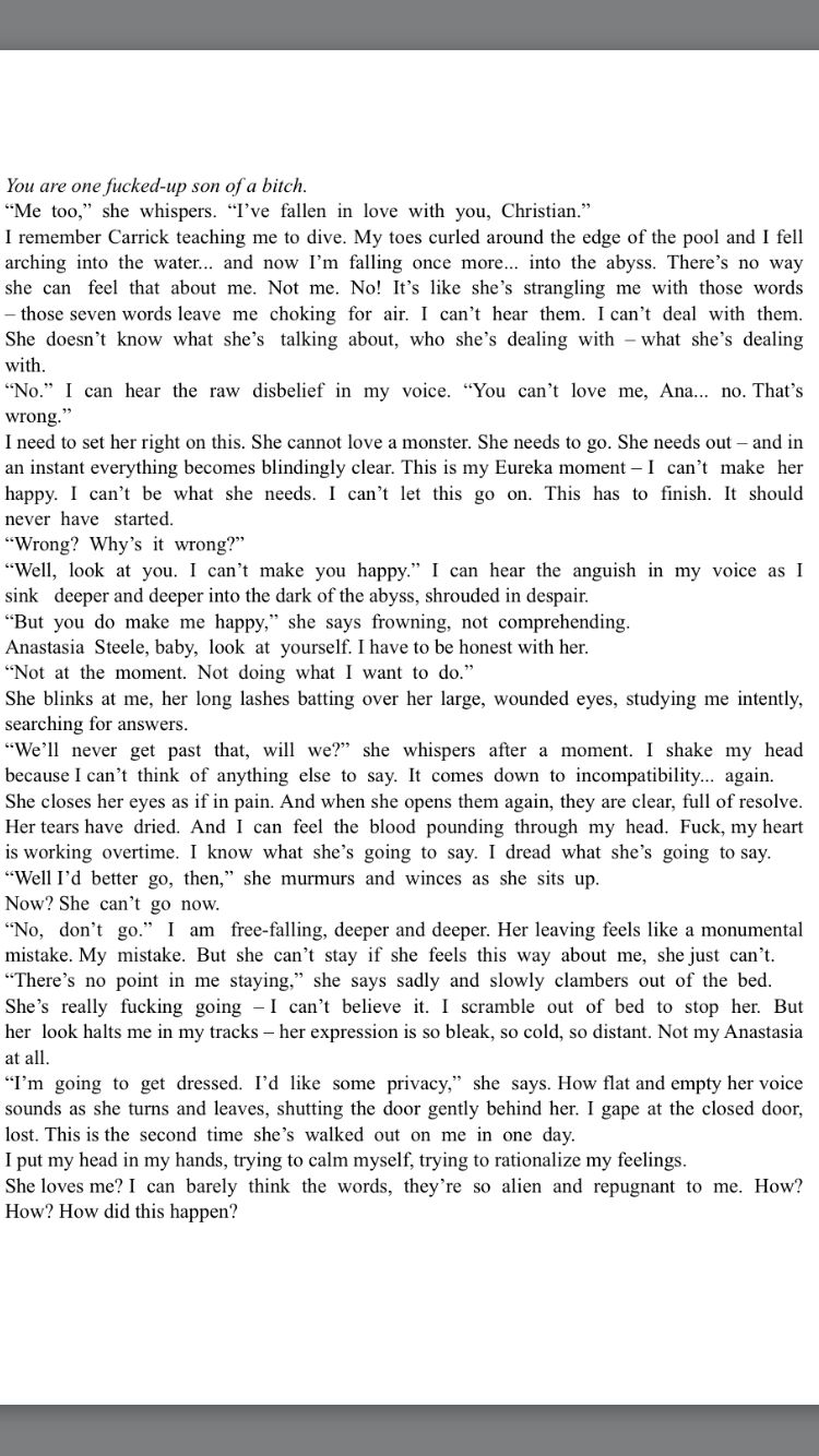fifty shades of grey the break up scene from christian s pov from fifty shades of grey the break up scene from christian s pov from outtakes from el james