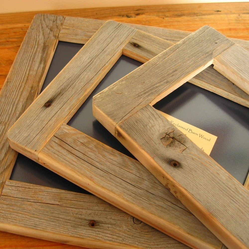 Barnwood FRAME 8x10 rustic refined ...from reclaimed aged wood ...
