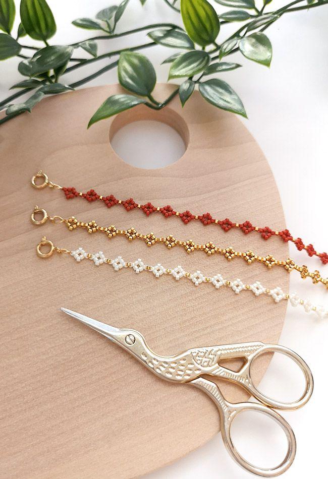 DIY Bracelets en perles miyuki mini losanges ou marguerites