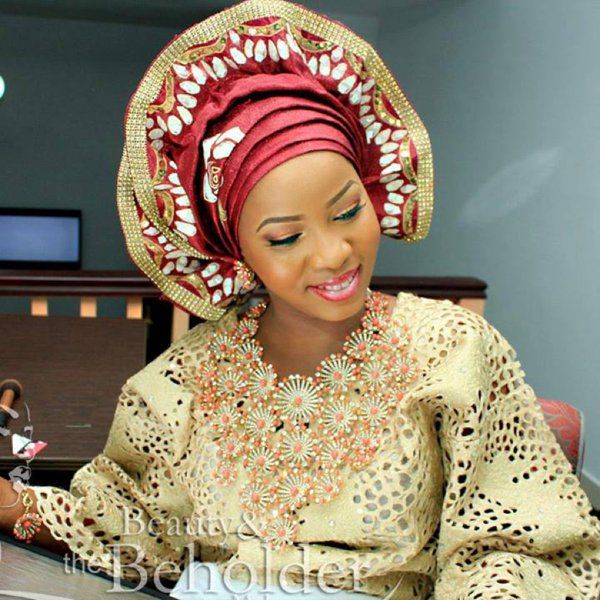 Nigerian Traditional Yoruba Wedding: What's Trending? Scalloped Geles