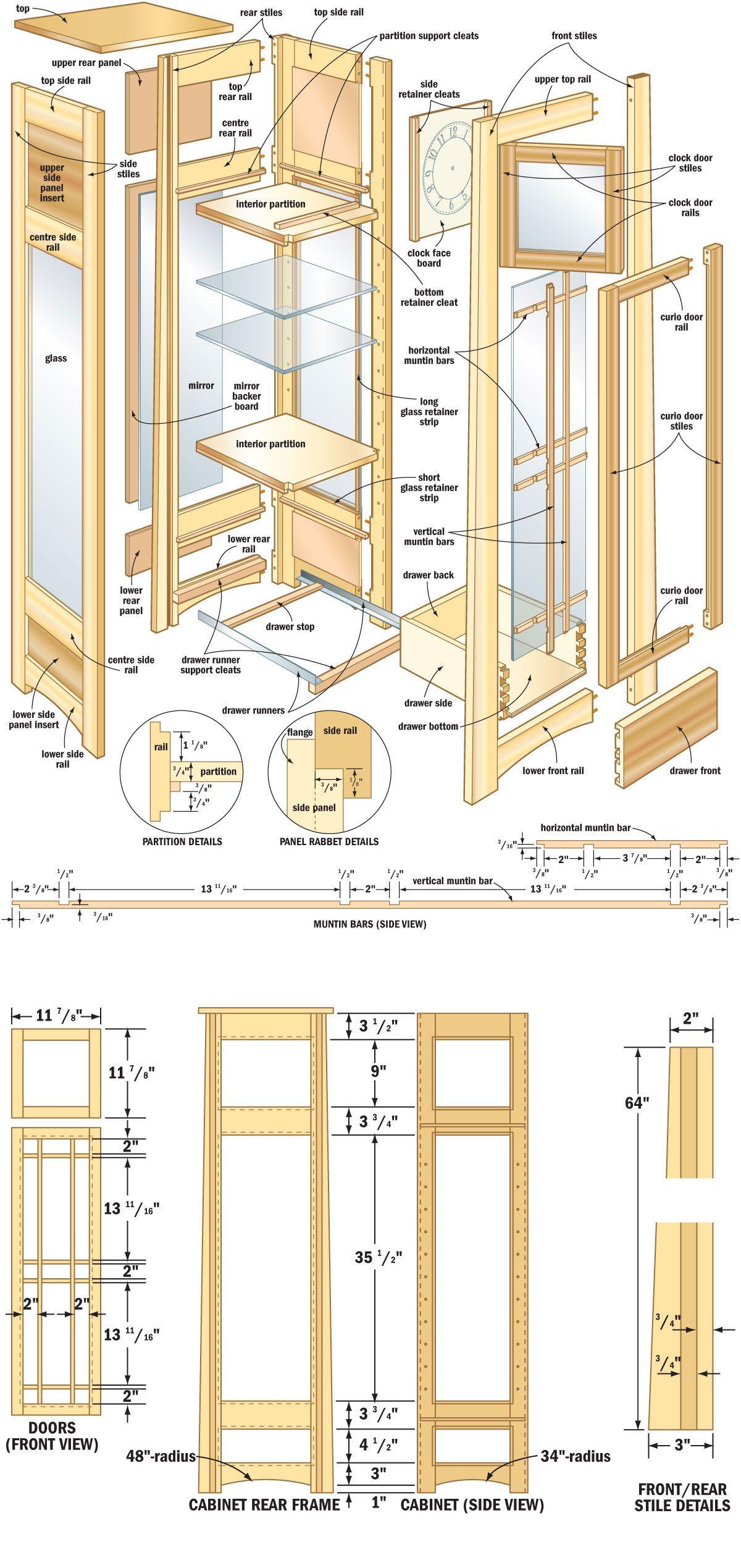 Woodworking Projects Plans: Free Plans & Directions For A Mission Curio Clock